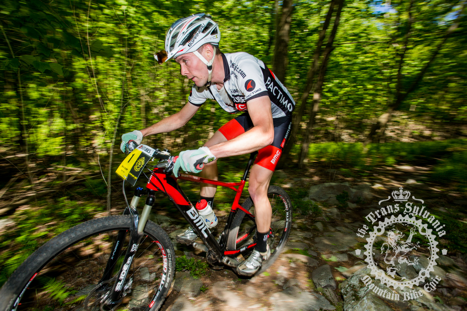 Aaron Snyder rolling through the Enduro section of the Prologue