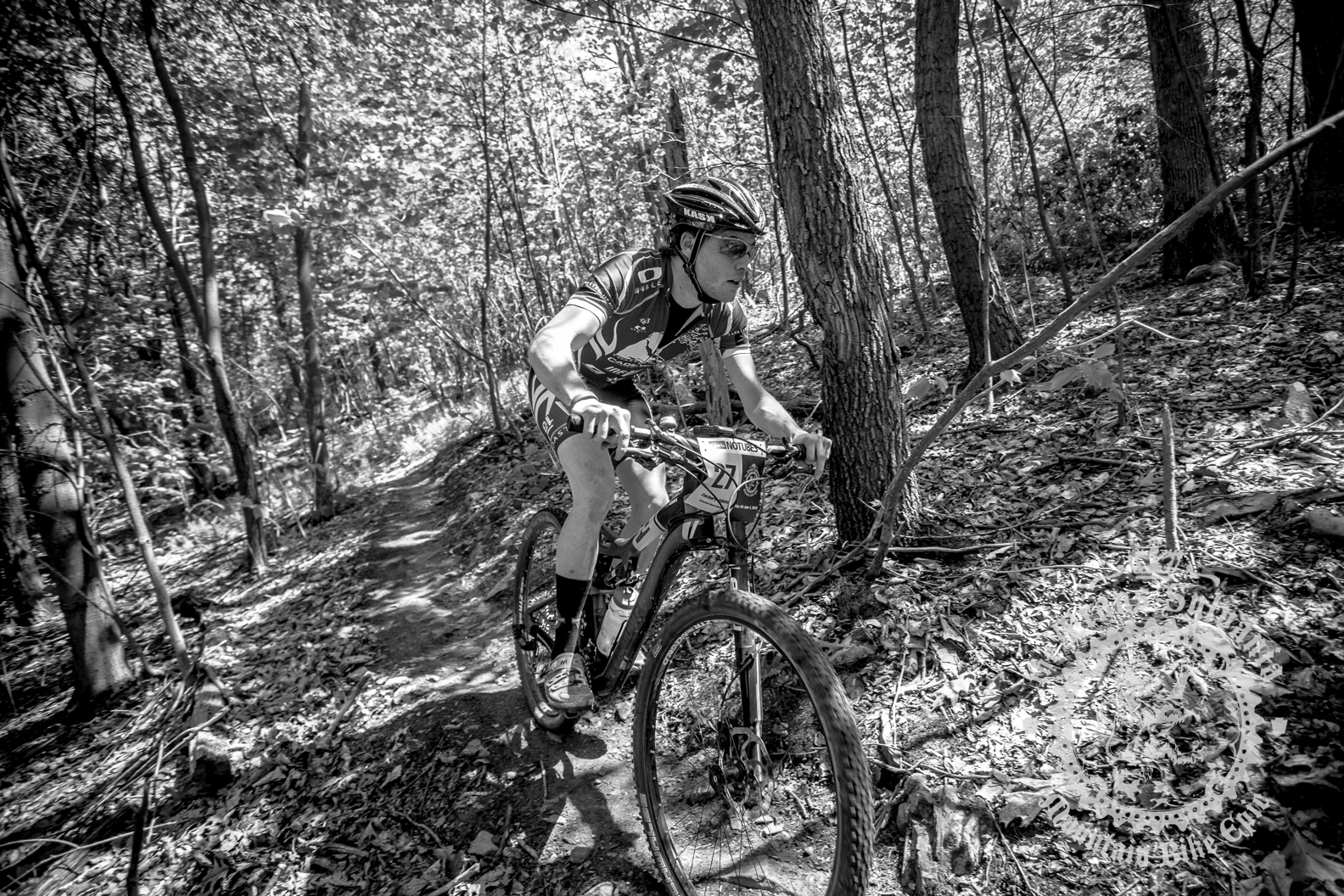 Zach Adams attacking in the Prologue Enduro section