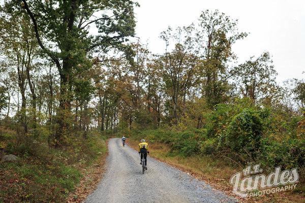 gravel road climb