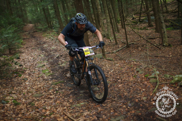 Nick Shepherd hits the enduro segment through the pines