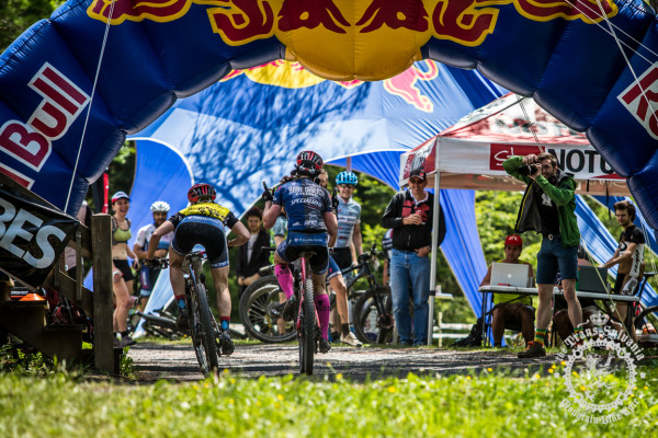 Selene Yeager pulls ahead of Cheryl Sornson to get the Stage 7 win