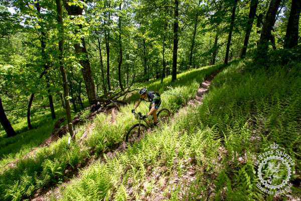 Greg Jancitis rolls down the enduro segment off of the Tussey Ridge