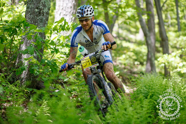 Mike Hebe hits the final enduro descent off of t he Tussey Ridge Trail