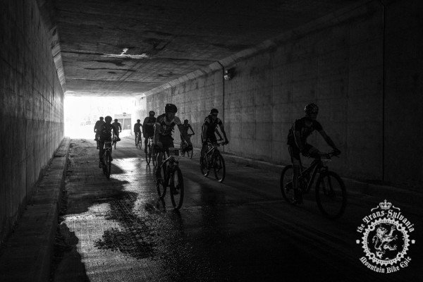 The start of Stage 2 rolls out under the overpass of 322 in Central Pennsylvania