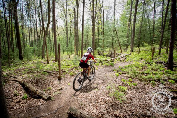 Pennsylvania forests provide a beautiful backdrop for riders as they explore Coopers Gap.