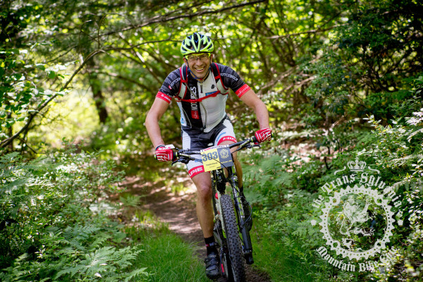 Stephan Kincaid, a racer in the NoTubes Trans-Sylvania Epic mountain bike stage race presented by Dirt Rag Magazine.