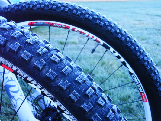 Frosty tires for the first few days of the CB Ultra Enduro.