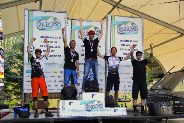 C3 Bike Shop owner, Wade Washburn, gets on the podium in 4th for the Vet Men on his BMC Trailfox.