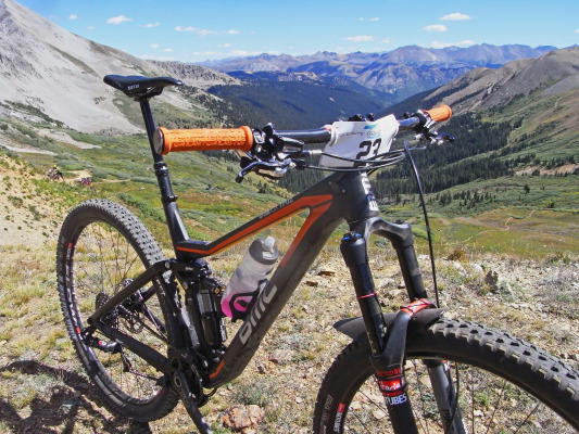 The BMC Trailfox is ready for it's first taste of Crested Butte trail slaying. So was I; after we hunkered down and hid from the wind while the Pro Women and Vet Men cleared the staging area. It wasn't a bad place to hang out really, especially on such a day.