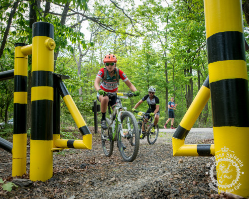 Johanne Albrigtsen (Colt Training Systems) makes her way through a gate at the beginning of the first enduro segment at the NoTubes Trans-Sylvania Epic.