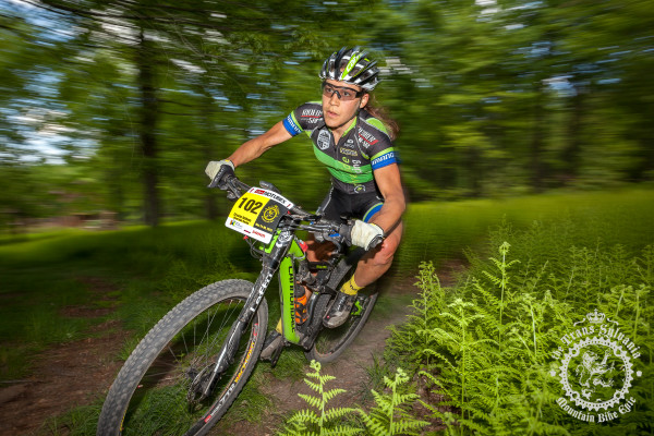 Crystal Anthony (Riverside Racing) on her way to winning stage 1 in the elite women's category.