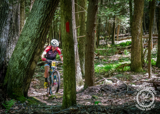 Tristan Uhl (Competitive Cyclist) picks his way through some tight, raw single track at the NoTubes Trans-Sylvania Epic.