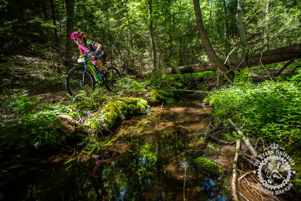 Vicki Barclay (Stan's NoTubes Elite Women's Team) rides through the picturesque scenery of R.B. Winter Park at the NoTubes Trans-Sylvania Epic.