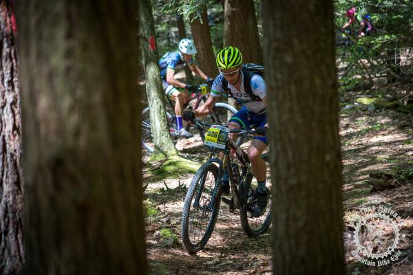 Dan Chabanov (Hudson/Ludwig & Larsen Racing) picks his way up a winding climb at the NoTubes Trans-Sylvania Epic.