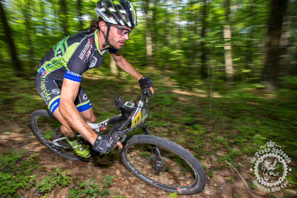 Dan Timmerman (Riverside Racing) makes a solo push during stage 7 at the NoTubes Trans-Sylvania Epic.