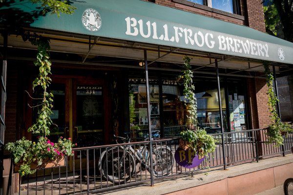 Bulllfrog Brewing is just one of the many breweries located in downtown Williamsport.