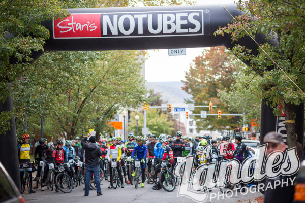 It was more like the start of a crit than an ultra cross race, in the way that we lined up in the closed- off streets in Williamsport, PA!